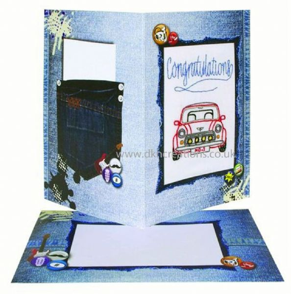 Congratulations  Embroidery Card Kit